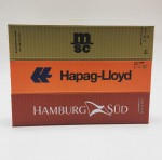 Igra 98010001 Container SET 40 ft. Hamburg Sud, MSC, Happag Lloyd H0