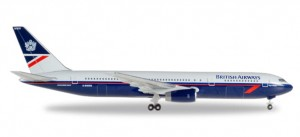 Herpa 529822 British Airways Boeing 767-300 Landor Colors 1:500