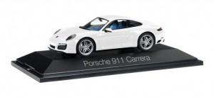 Herpa 071017 Porsche 911 Carrera Coupé 991 II, carrara white metallic 1:43