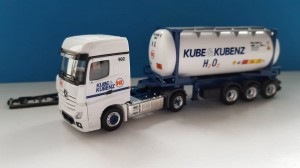 Herpa 935593 Mercedes-Benz Actros Bigspace Tankcontainer Kube & Kobenz 1:87 H0