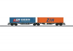 Trix 24802 Wagon Sggrss 80 2 x 40 ft. Container China Railway + ZIH - PKP Cargo 1:87
