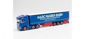 Herpa 313247 				Scania CS 20 HD 6x2 Marc Panzer Transporte 1:87