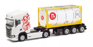 Herpa 944168 Scania CS 20 HD 20ft. Tankcontainer Raffles Lease 1:87