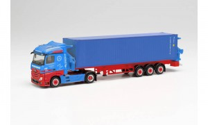 Herpa 313919 	Mercedes-Benz Actros Container Sideloader Frankenbach 1:87