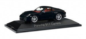 Herpa 071000 Porsche 911 Carrera Coupé 991 II black 1:43