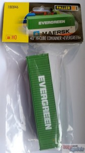 Faller 180846 40 ft.  Hi-Cube Container EVERGREEN