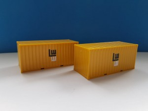 Herpa 076814 2 x 20 ft. Container Leonhard Weiss 1:87